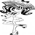 Draculaura et son parapluie