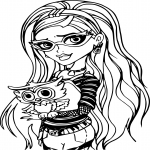 Ghoulia Yelps et un hibou