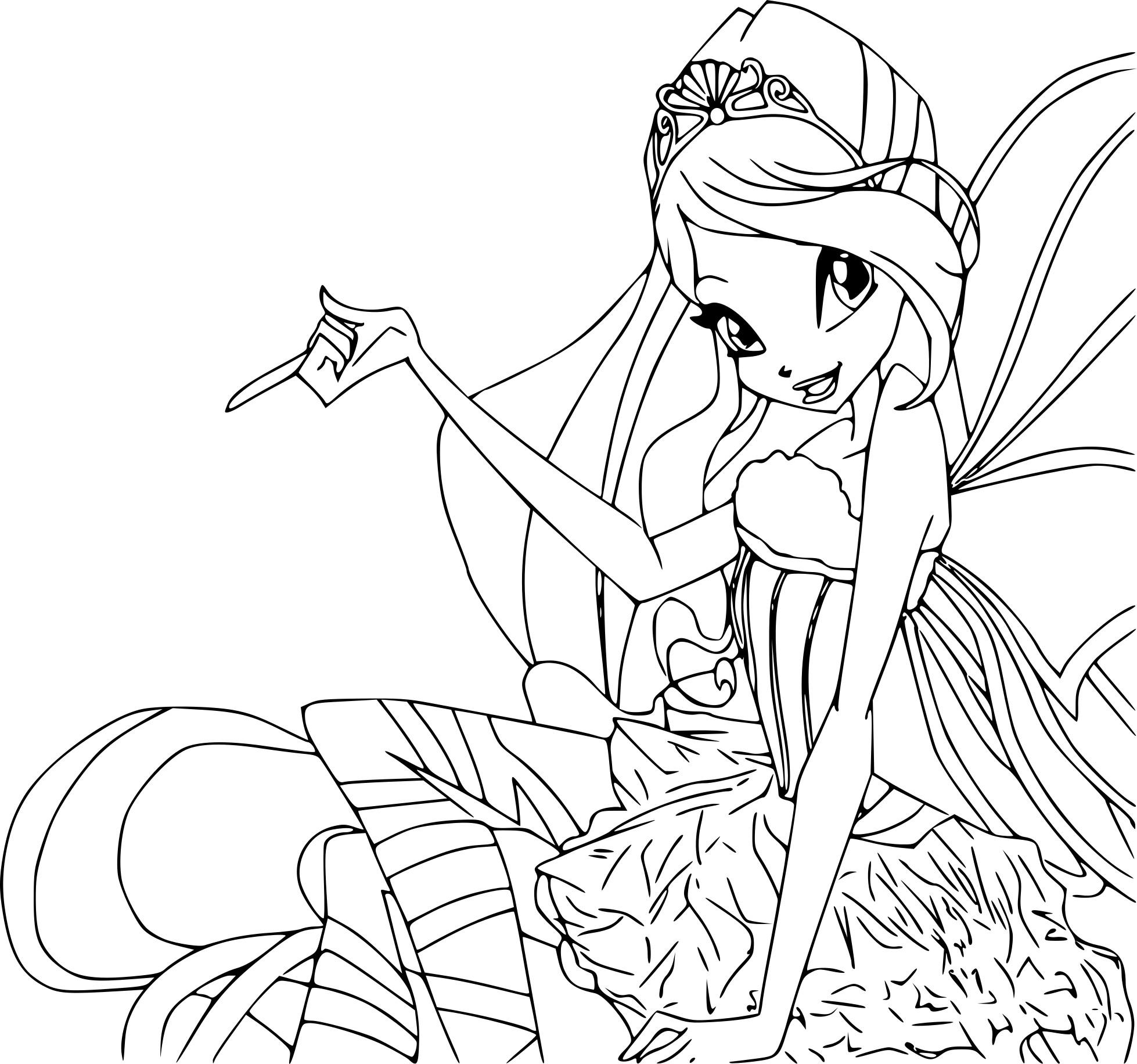 Coloriage Princesse Bloom A Imprimer Gratuit