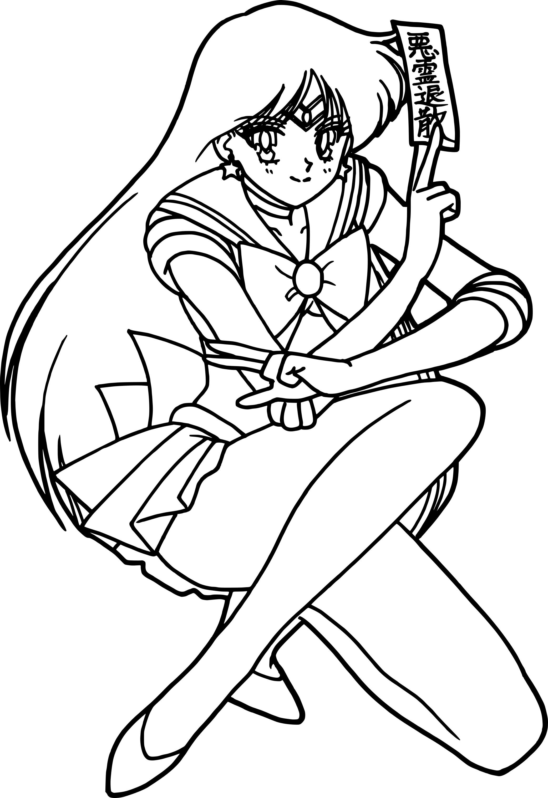 coloriage sailor mars princesse 224 imprimer gratuit