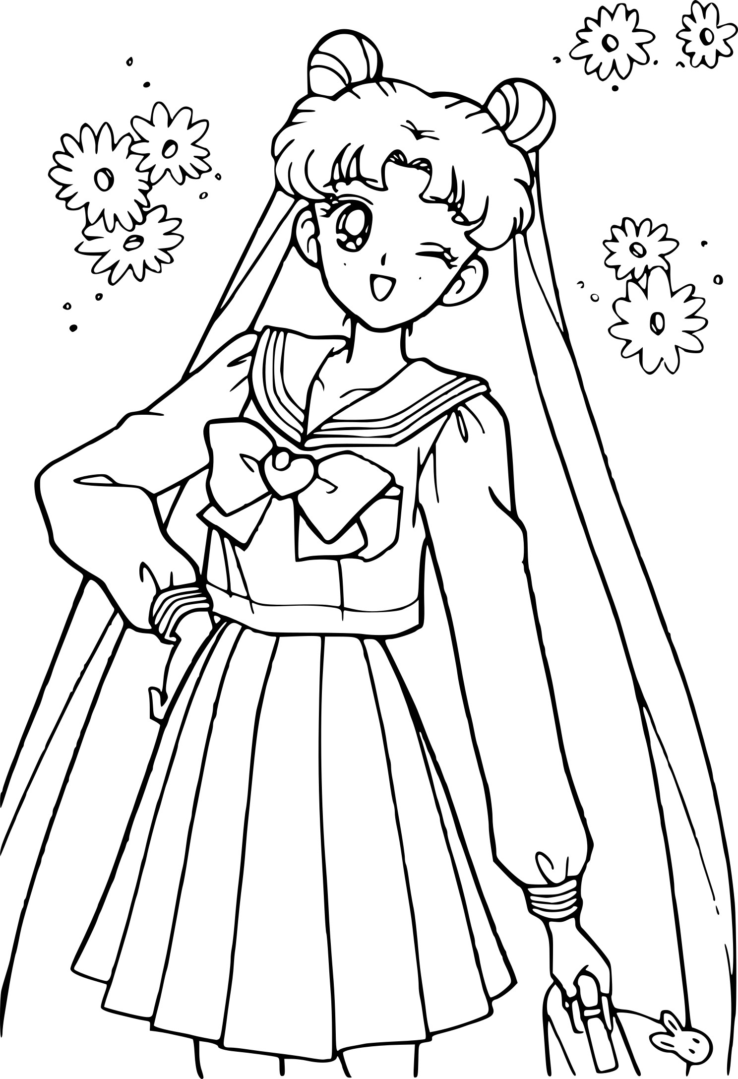 Coloriage Sailor Moon Collegienne A Imprimer Gratuit