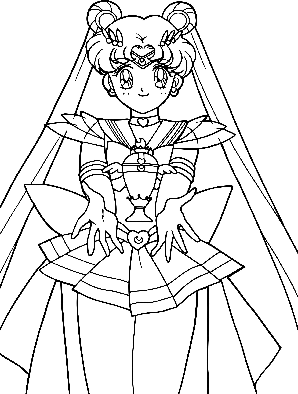 Coloriage Sailor Moon Crystal A Imprimer Gratuit