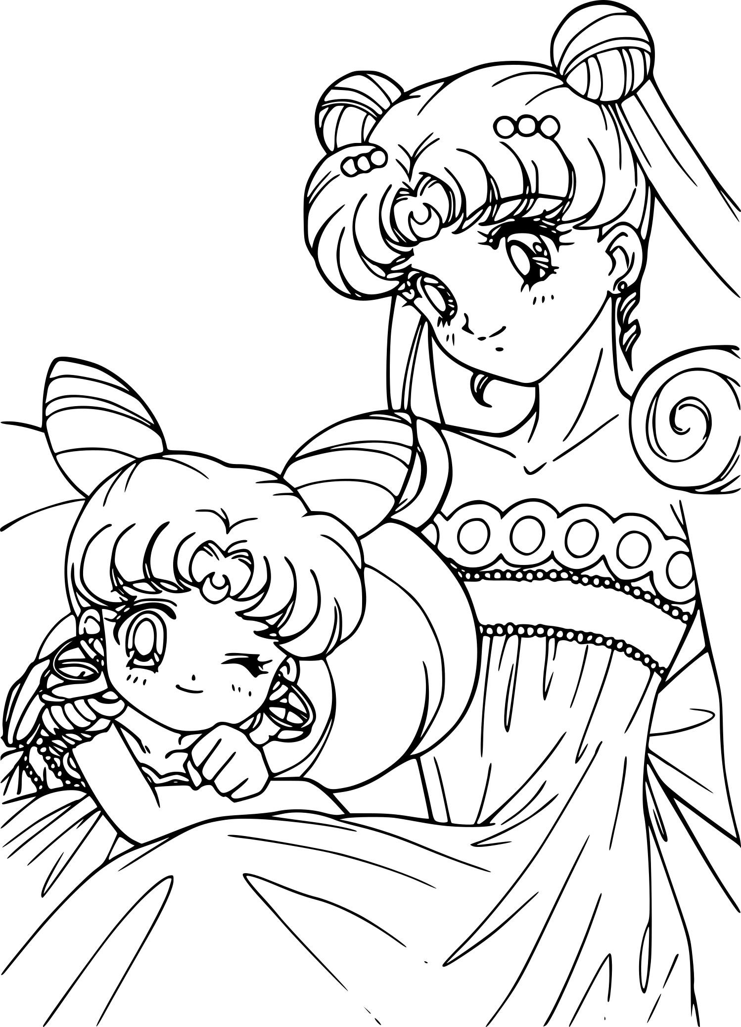 Coloriage Sailor Moon La Princesse De La Lune A Imprimer Gratuit