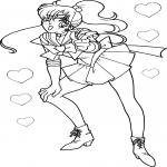 Sailor Jupiter heureuse