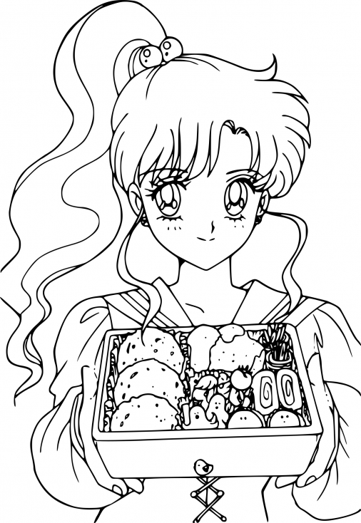 Sailor Jupiter mange des sushis