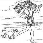 Barbie avec son chien