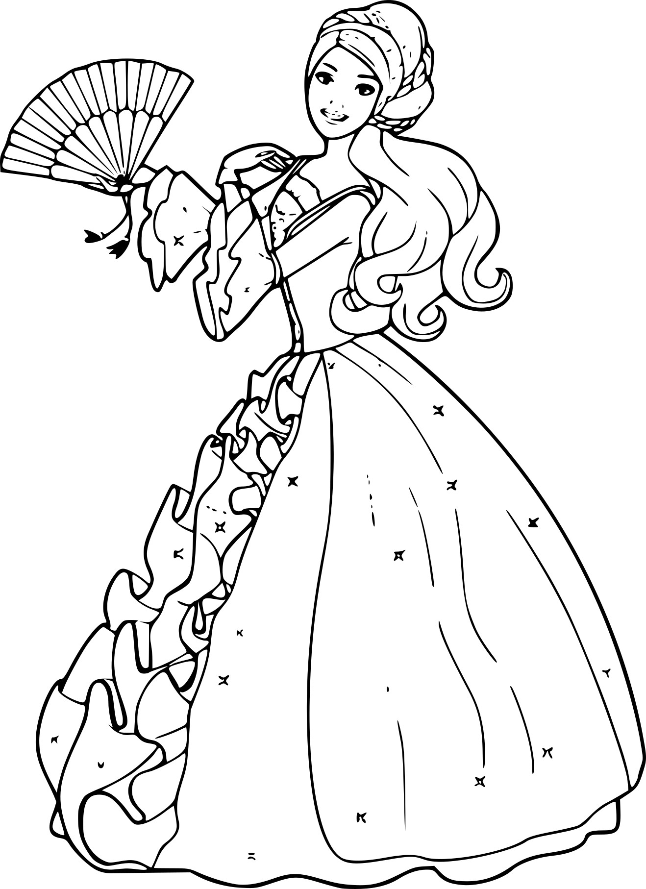 Coloriage barbie princesse imprimer gratuit - Barbie princesse coloriage ...