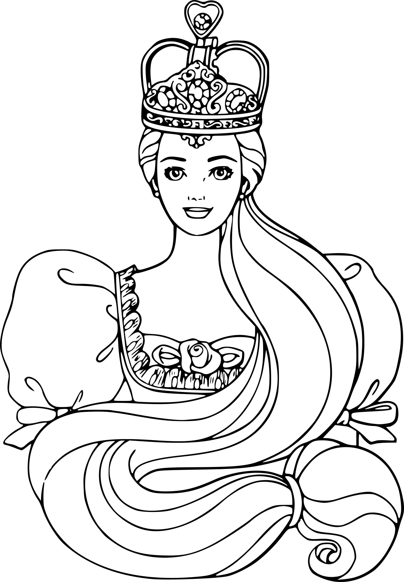 Coloriage barbie princesse disney imprimer gratuit - Dessin de barbie facile ...