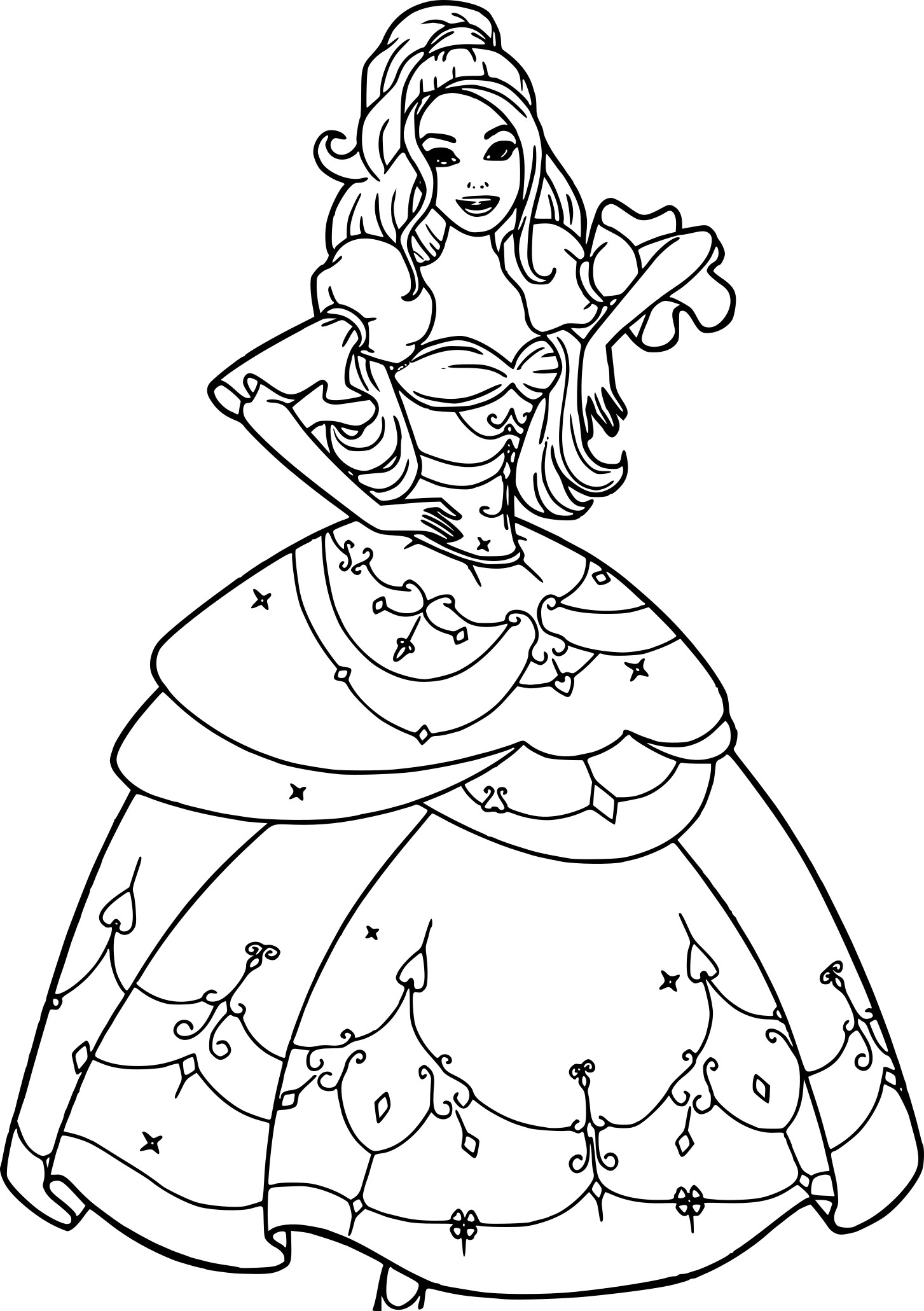 Beau dessin a imprimer princesse barbie - Coloriages princesse ...