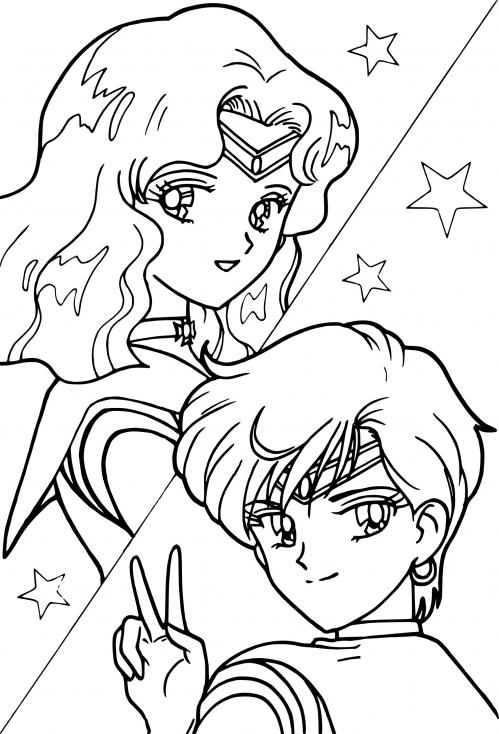 Sailor Neptune et Uranus