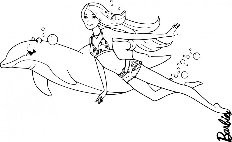 Barbie avec un dauphin