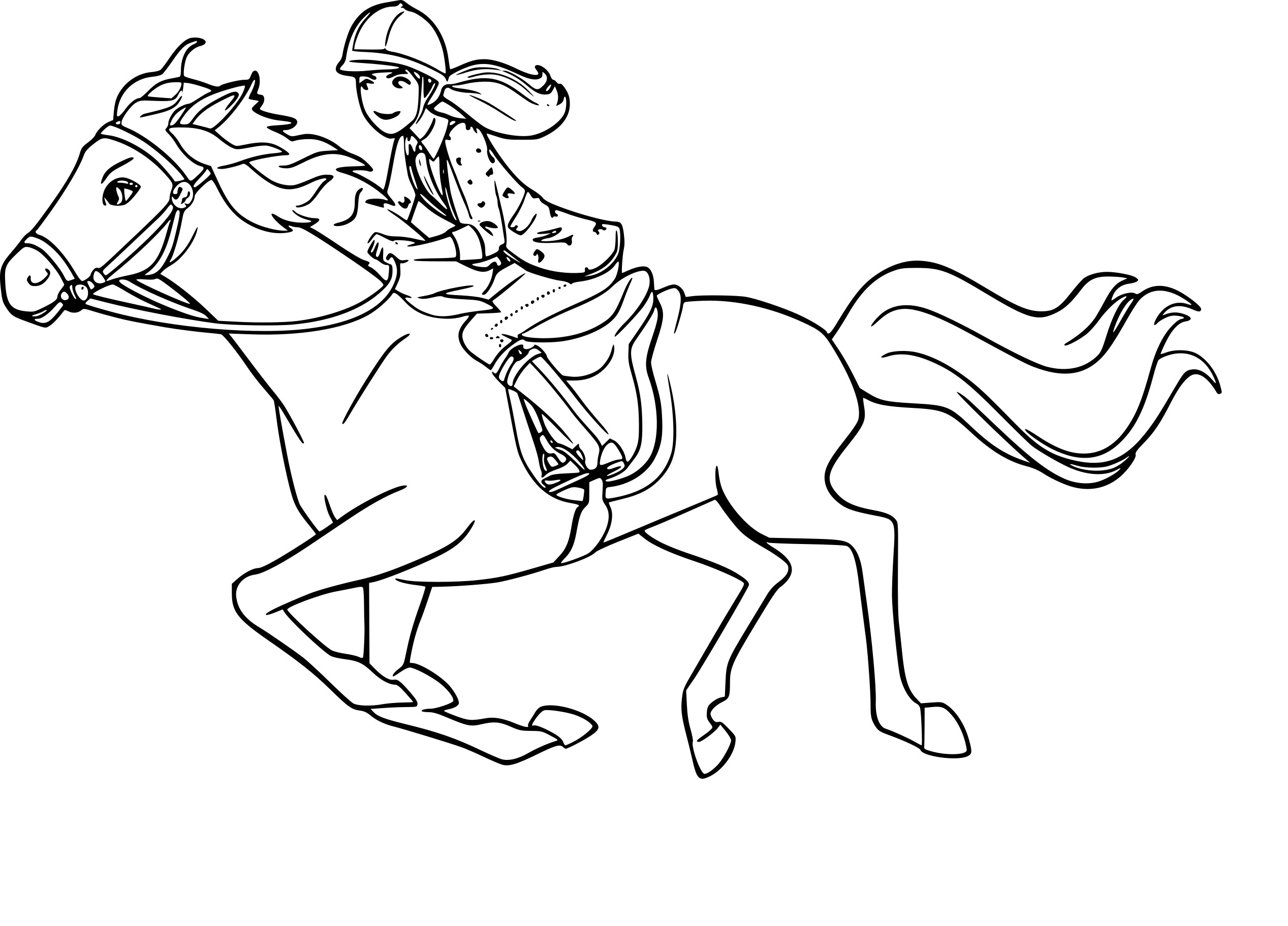 Coloriage barbie cheval imprimer gratuit - Dessin de barbie facile ...