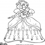 Barbie robe de soirée