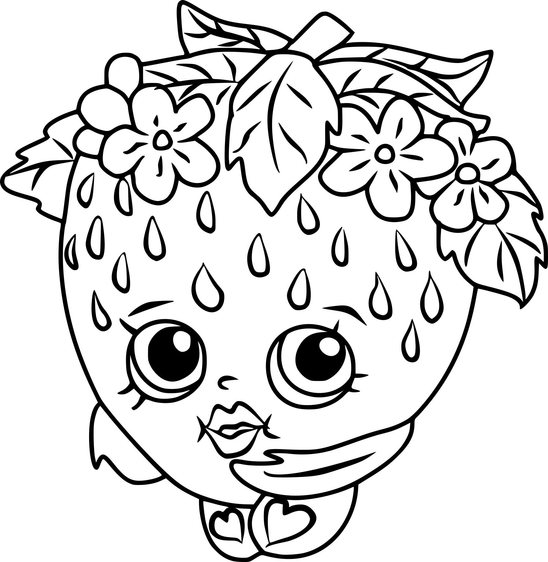 Strawberry Shopkin Coloring Page