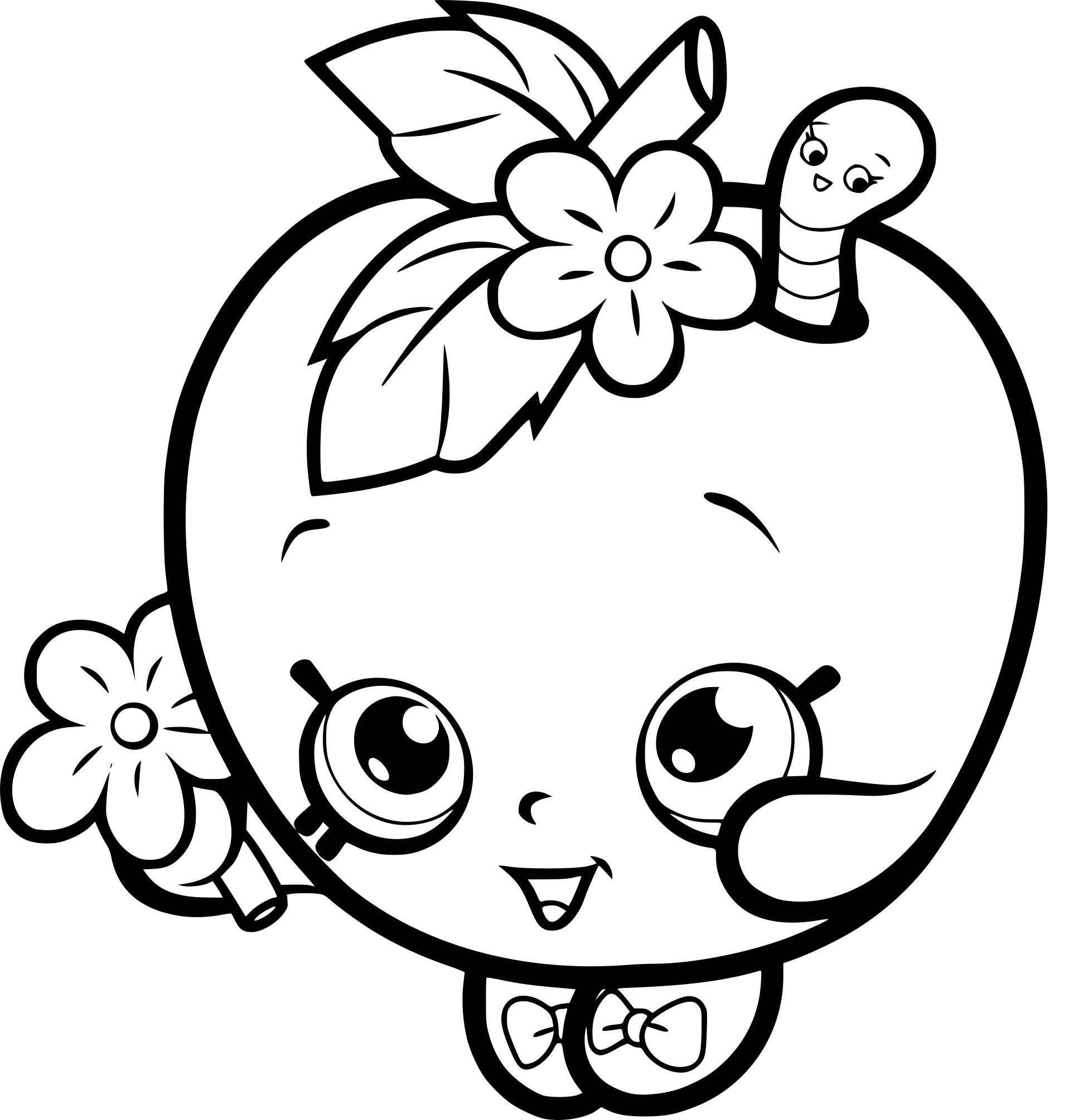 Coloriage shopkins pomme verte imprimer gratuit - Dessin pomme a colorier ...