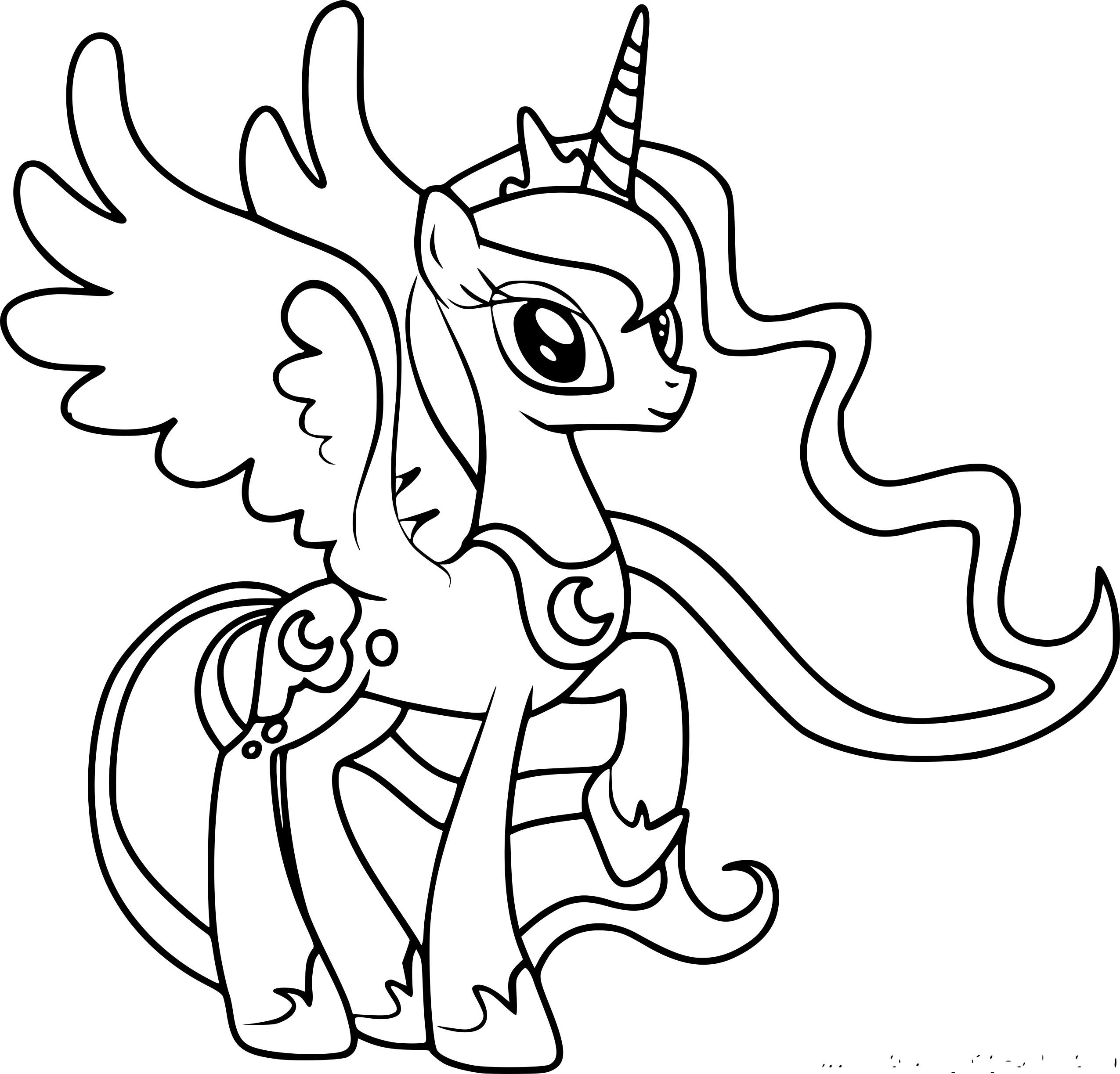 Coloriage Princesse Luna A Imprimer Gratuit