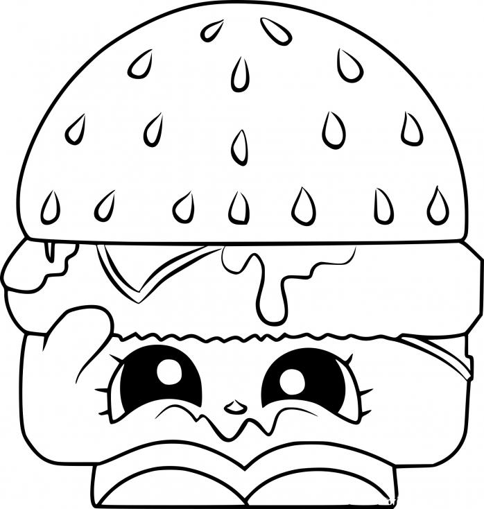 Shopkins hamburger