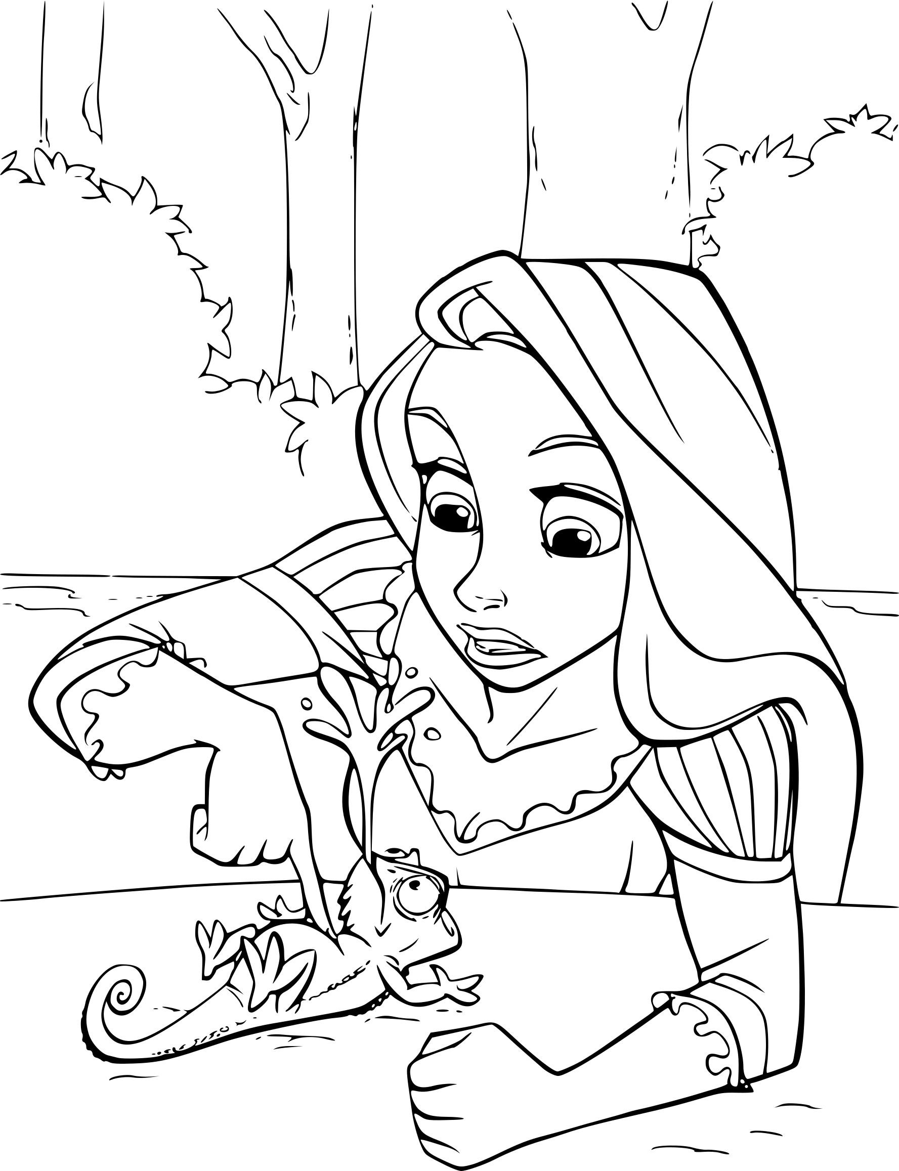 Inspirant Image Princesse Raiponce A Colorier