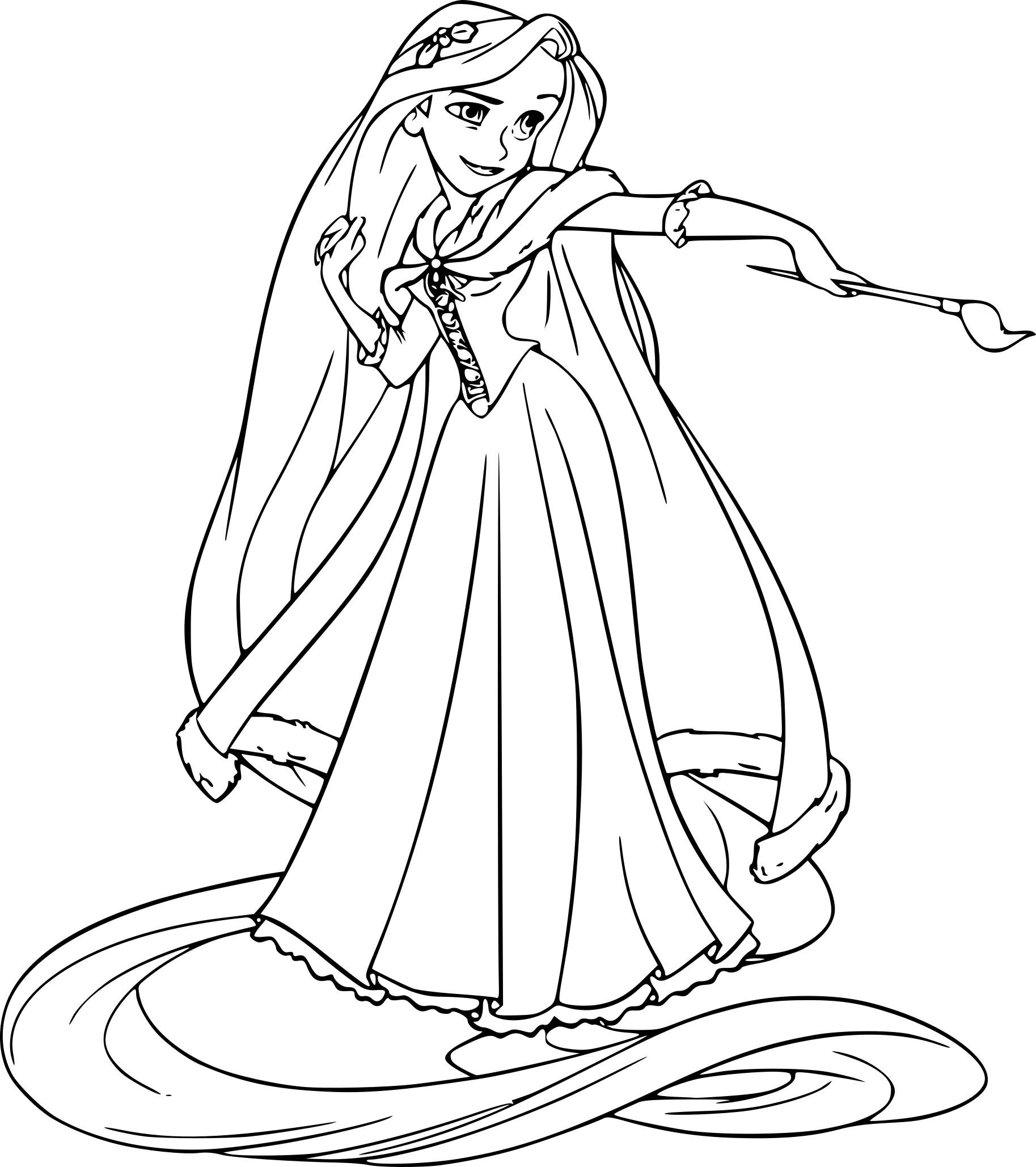 Meilleur de dessins a imprimer princesse raiponce - Coloriage raiponce ...