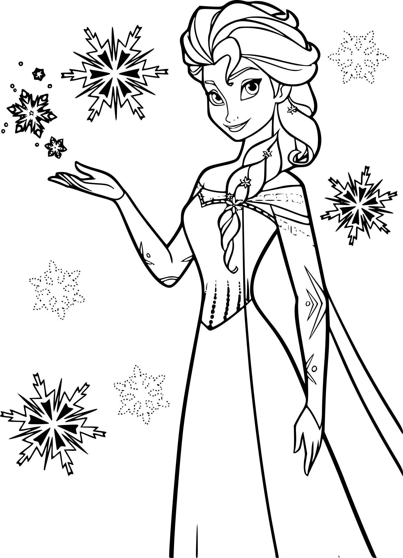 Coloriage Elsa La Reine Des Neiges A Imprimer Gratuit