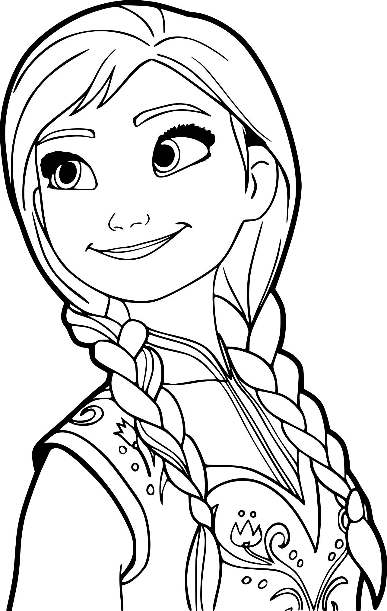 Coloriage princesse anna imprimer gratuit - Coloriage anna et elsa ...