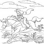 Jasmine sur un cheval