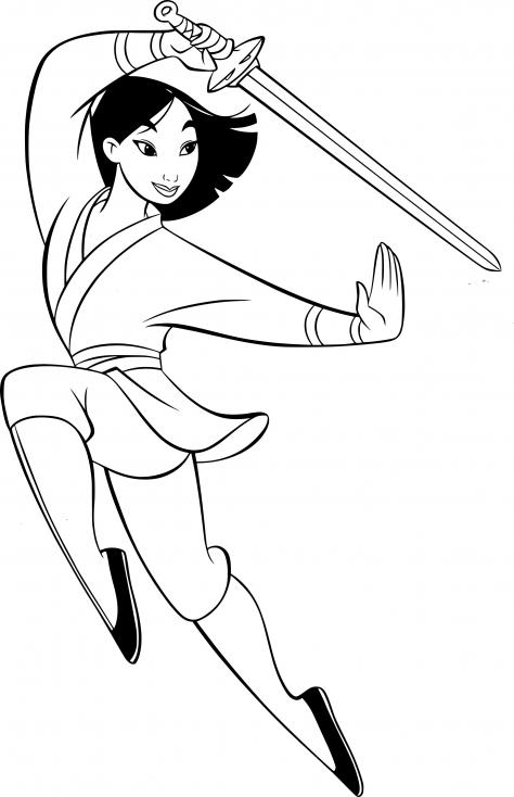 Mulan au combat