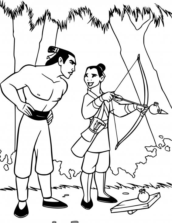 Mulan et Li Shang