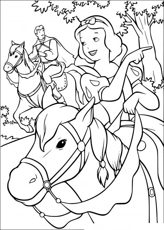 Blanche Neige à cheval